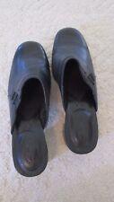 Clark's Women's Size 9 1/2 M Slip-on Mules Black