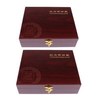 2Pack Superb Wooden Coin Box Storage 30 Grids Holder Display Case Collection