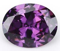 Romantic 14.21ct 12x16mm Oval Purple Amethyst Diamonds Cut AAAAA VVS Loose Gems