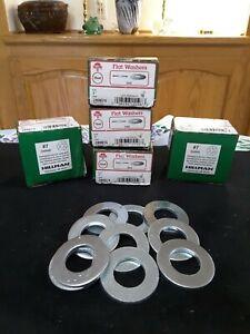"1""Hillman Steel Flat Washer Zinc - Plated Steel Condition:  New (Qty:10 per box)"