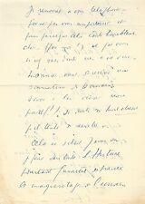 Louis-Ferdinand CELINE / Lettre autographe signée à son avocat / Mort à Crédit
