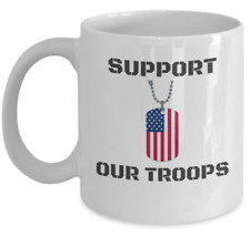 Veteran coffee mug -  Support our troops - USA combat Military gift cup dd214
