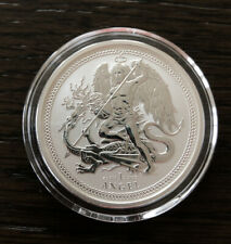 2017 Isle Of Man Angel 1 oz .999 Silver Reverse Proof Capsuled Coin 5000 Mintage