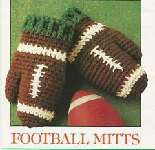 Crochet Pattern ~ KIDS FOOTBALL MITTS Mittens ~ Instructions