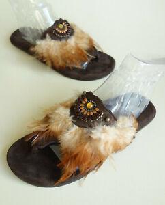 PAPILLIO Birkenstock by Heidi Klum Sandals Slides AMAZONE brown US6.5-7 EU38 UK5