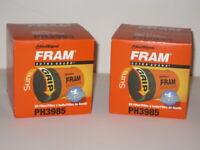 Engine Oil Filter Fram Extra Guard PH3985 x 2