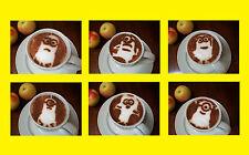 M1 Set di 6pcs Minion torta Caffè Barista Stencil Arte airbrushin spolverare