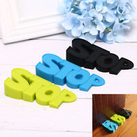 Silicone home door stopper baby safety stop letter modelling door protection _BB