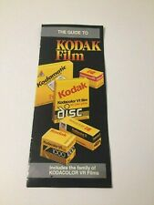 The Guide to Kodak Film Pamphlet/Brochure Advertisement 83 Eastman Kodak Company