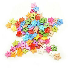 100 Pcs/Lot Plastic Buttons Sewing Diy Craft Decals For Children Q9F6