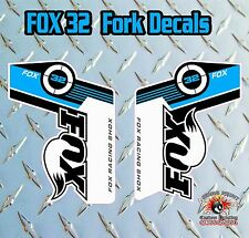 FOX 32 2014 FORK Adesivi Decalcomanie Grafiche mountain bike Down Hill MTB Blu