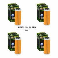 HUSQVARNA  FE250 FITS YEARS 2014 TO 2017 HIFLOFILTRO OIL FILTER  HF652   4 PACK