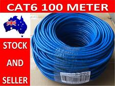Blue 100M CAT6 Network Ethernet LAN Cable Roll UTP Solid Core Free Shipping