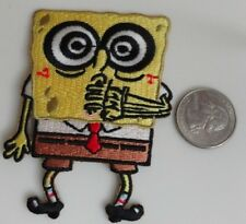 Spongebob Squarepants Crazy Swirly Eyes Embroidered Iron On Patch - New, Rare