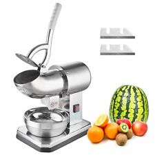 750w Electric Ice Shaver Machine Snow Cone Maker Stainless Steel Ice Crusher