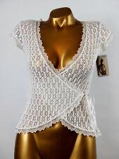 ARIANNE - TAILLE L - Haut Cache-Coeur Crochet Dentelle 5905, Coloris : Blanc