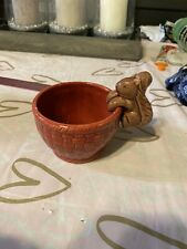 Red Bowl With Squirrel