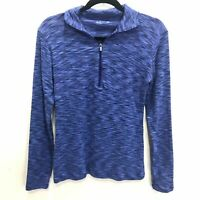 Columbia Half Zip Blue Space Dye Active Wear Pullover Women's Size Medium EUC