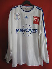 Maillot Coupe de France Blanc n° 13 Manpower match worn Porté couleur OM - XL