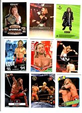 WWE Edge Wrestling Lot of 9 Cards w/ 3 Inserts A