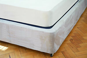 Divan Bed Base Wrap Valance Faux Suede Single Double King Super King