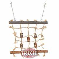 Trixie Wood & Rope Climbing Scaffold Bird Toy Sisal Net Wall Budgies Lovebirds