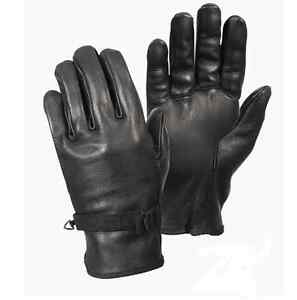 D-3A Black Leather Gloves Military Army USMC Motorcycle Riding Driving ATV Work