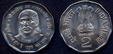 INDIA 2 Rupees 1998 Sri Aurobindo UNC