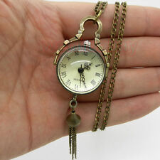 Special Antique Vintage Big Glass Ball Bull Eye Necklace Quartz Pocket Watch