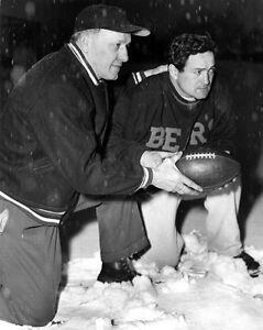 1930s Chicago Bears GEORGE HALAS & SID LUCKMAN Vintage 8x10 Photo Football Print