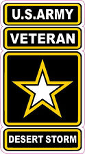 """U.S. Army Veterans Desert Strorm Decal 5"""" Fast Free Shipping from the United Sta"""