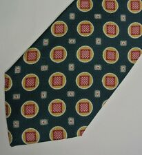"Green Red PIERRE BALMAIN Silk Tie 4.1"" Wide 56"" Long"
