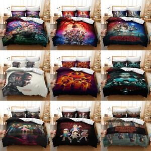 3D Stranger Things Pattern Bedding Set Kids Quilt Duvet Cover Pillowcase new100%