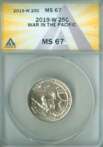 2019-W Washington quarter ATB War in the Pacific  ANACS MS-67 (2127131)