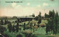 Victoria Club Clubhouse View Riverside California CA Vintage 1910's Postcard