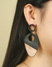 Handmade Bohemian Style Wood Earrings Women Vintage Fashion Accessory Jewelry