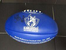 North Melbourne - Brent Harvey signed NMFC Blue mini football
