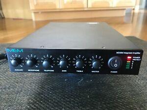 PASO / MEM MD35M 35 Watt 3 Channel Public Address Amplifier With Music On Hold
