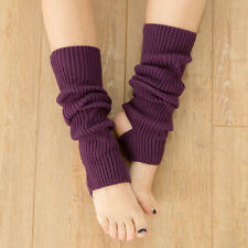 Women Leg Warmers Knitting Sports Yoga Long Socks Boot Cover Stockings Socks New