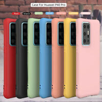For Huawei P40 Lite E P40 P30 Pro Shockproof Silicone Soft TPU Phone Case Cover