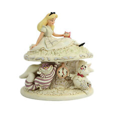 Disney Jim Shore 2019 Alice in Wonderland White Woodland Figurine Dinah Cheshire