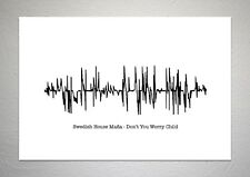 Swedish House Mafia - Don't You Worry Child - Sound Wave Print Poster Art