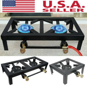 Portable Camp Stove Single Burner Cast Iron Propane Gas LPG Outdoor BBQ Cooker