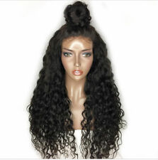 """22"""" 180% Density Wavy Full Head Wigs Pre Plucked Lace Front W/Baby Hair"""