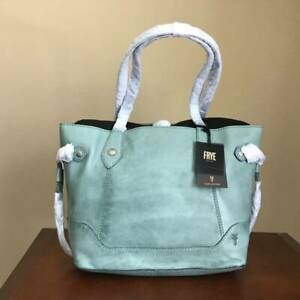 Frye Melissa Italian Leather Carryall Tote Shoulder Bag Handbag Sky $328 NWT