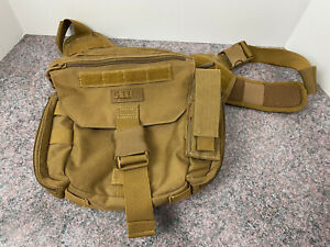 5.11Tactical Brown Push Pack Sling Pack Gear Shoulder Bail Out Bag ~ Preowned