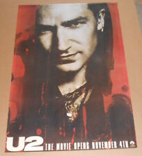 U2 The Movie Promo HUGE 1988 Original Poster 27x40 RARE