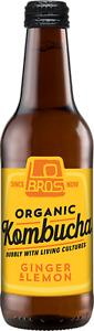 Lo Bros Kombucha Ginger and Lemon 330ml Organic Kombucha