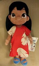 "DISNEY STORE ANIMATORS' COLLECTION LILO PLUSH DOLL 12"" STITCH & LILO NEW"