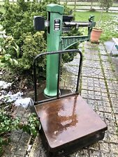 More details for vintage pooley railway station luggage baggage weighing scales 5 cwt cast iron